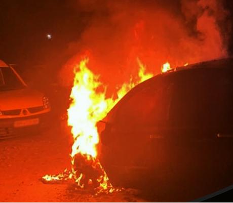 Поджог Nissan в Сумах: как OutGUARD помог спасти автомобили, припаркованные рядом